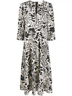 Платье Olga с абстрактным принтом Ba&Sh. Цвет: черный