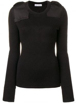 Padded knit jumper Paco Rabanne. Цвет: черный