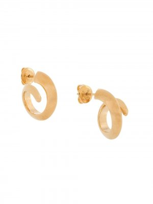 Серьги-кольца Bottega Veneta. Цвет: золотистый