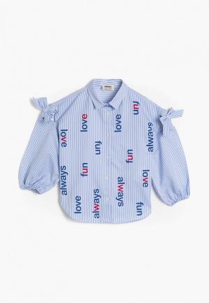 Блуза Koton. Цвет: голубой