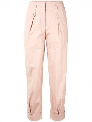 Зауженные брюки с подворотами Lorena Antoniazzi. Цвет: розовый