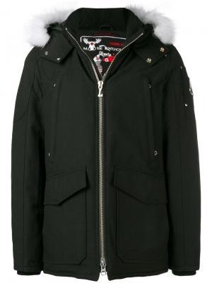 Hooded parka coat Moose Knuckles. Цвет: черный