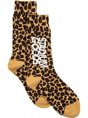 Носки с леопардовым принтом Stadium Goods. Цвет: желтый