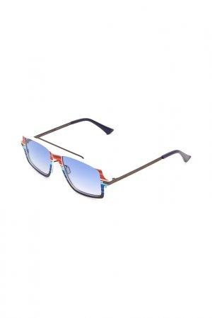 Очки солнцезащитные с линзами ITALIA INDEPENDENT. Цвет: 053 078 синий