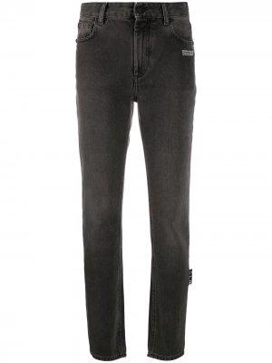 Прямые джинсы Off-White. Цвет: серый