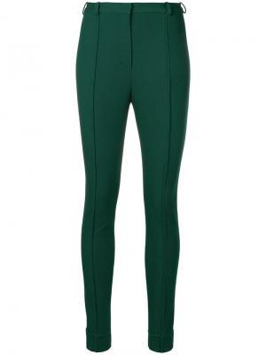 Классические брюки скинни Lanvin. Цвет: зеленый