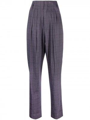 Зауженные брюки в клетку Isabel Marant Étoile. Цвет: фиолетовый