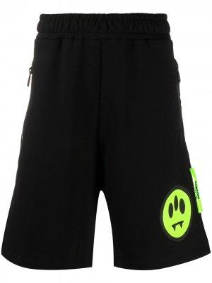 Спортивные шорты с принтом BARROW. Цвет: черный