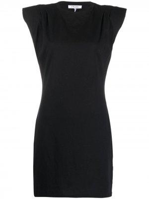 Платье из джерси с рукавами кап FRAME. Цвет: черный