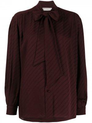 Блузка с объемными рукавами Givenchy. Цвет: фиолетовый