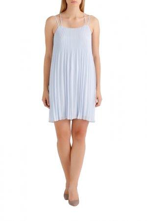 Плиссированное платье Apart. Цвет: голубой