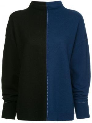Джемпер в стиле колор-блок Robert Rodriguez. Цвет: синий