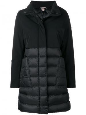 Пальто со стеганой панелью Colmar. Цвет: черный
