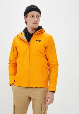 Ветровка Patagonia. Цвет: оранжевый