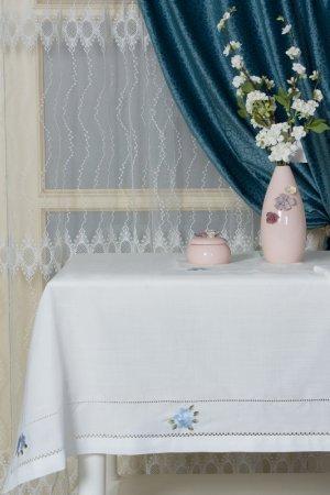 Скатерть с вышивкой 160х220 ARYA HOME COLLECTION. Цвет: экрю