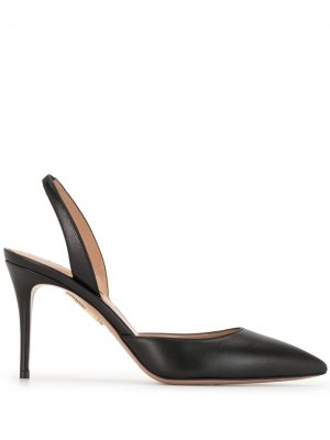 Туфли с ремешком на пятке Aquazzura. Цвет: черный