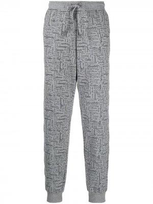 Пижамные брюки с надписью Viktor & Rolf. Цвет: серый