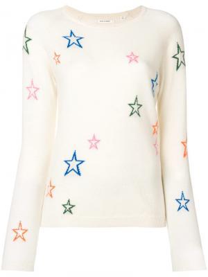Свитер с объемными звездами Chinti & Parker. Цвет: белый