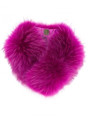 Меховой воротник Mr & Mrs Italy. Цвет: розовый