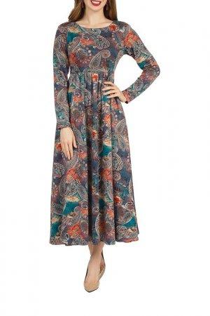 Платье Olivegrey. Цвет: лилово-малахитовый