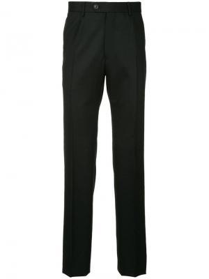 Прямые брюки Gieves & Hawkes. Цвет: черный