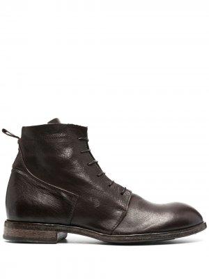 Ботинки на шнуровке Moma. Цвет: коричневый
