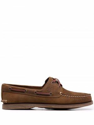 Топсайдеры со шнуровкой Timberland. Цвет: коричневый