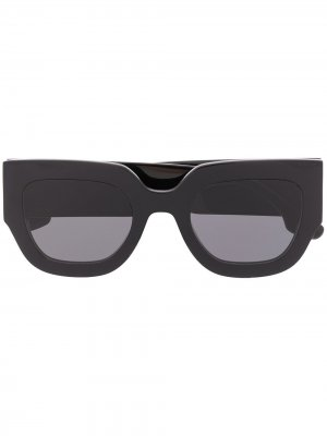 Солнцезащитные очки в футуристичном стиле Victoria Beckham. Цвет: черный
