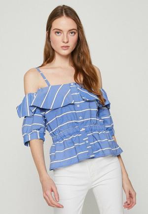 Блуза Koton. Цвет: синий