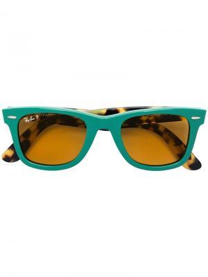 Солнцезащитные очки Wayfarer с поляризованными линзами Ray-Ban. Цвет   зеленый a90e8de77b3