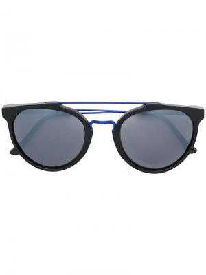 Double bridge sunglasses Retrosuperfuture. Цвет: черный