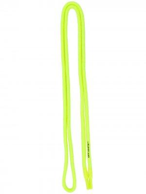 Шнурки с логотипом Off-White. Цвет: желтый