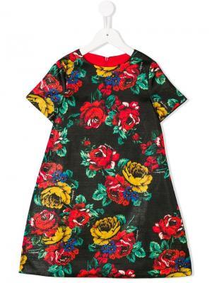 Floral print dress Marco Bologna Kids. Цвет: черный