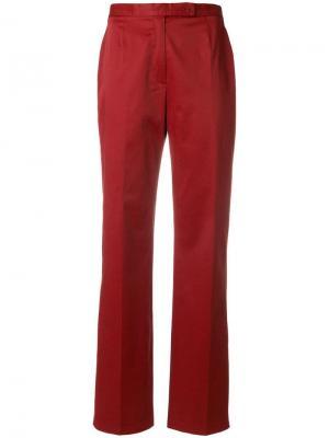 Расклешенные брюки завышенной посадки Moschino Pre-Owned. Цвет: красный