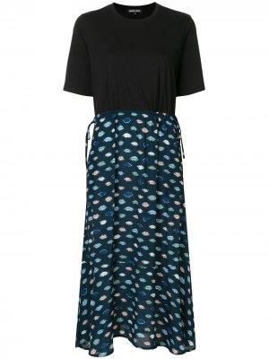 Платье-футболка Lip Markus Lupfer. Цвет: синий
