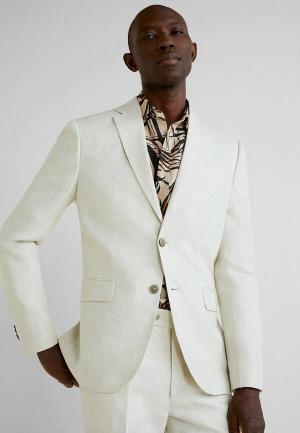Пиджак Mango Man. Цвет: белый