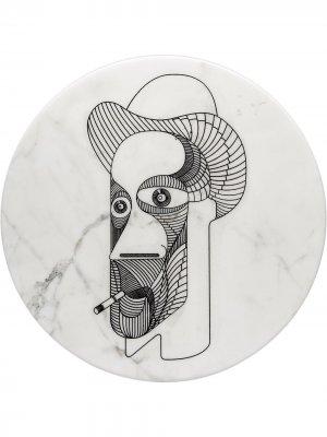 Тарелка Marblelous VI (32 см) Editions Milano. Цвет: белый