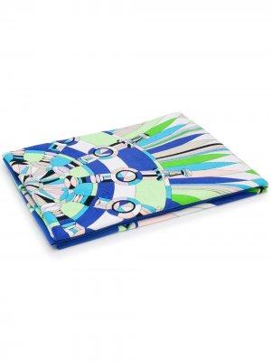 Пляжное полотенце Bes с принтом Emilio Pucci. Цвет: зеленый