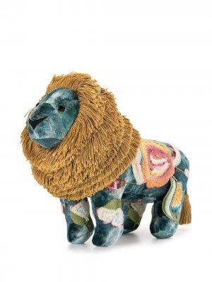 Мягкая игрушка в виде льва с вышивкой Anke Drechsel. Цвет: разноцветный