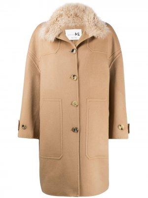 Однобортное пальто Manzoni 24. Цвет: нейтральные цвета