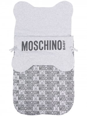 Конверт с логотипом Moschino Kids. Цвет: серый