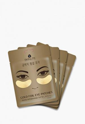 Набор для ухода за кожей вокруг глаз Skinlite. Цвет: золотой