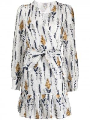 Платье с запахом и цветочной вышивкой Baum Und Pferdgarten. Цвет: нейтральные цвета