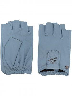 Перчатки-митенки K/Autograph Karl Lagerfeld. Цвет: синий
