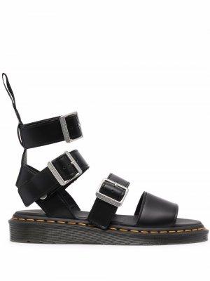 Multi-strap leather sandals Dr. Martens. Цвет: черный