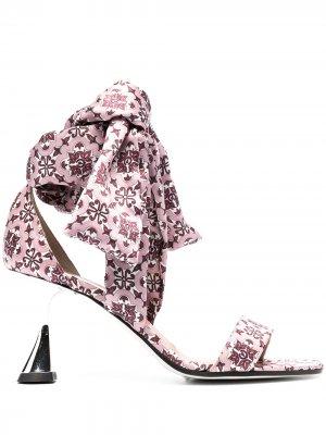 Атласные босоножки Azulejos Pollini. Цвет: розовый
