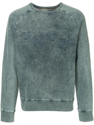 Толстовка с логотипом Nudie Jeans Co. Цвет: синий