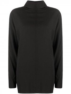 Блузка с длинными рукавами и воротником-стойкой Co. Цвет: коричневый