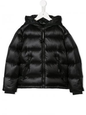 Mask hood padded jacket Cp Company Kids. Цвет: черный