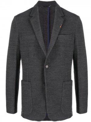 Однобортный пиджак PAUL SMITH. Цвет: серый